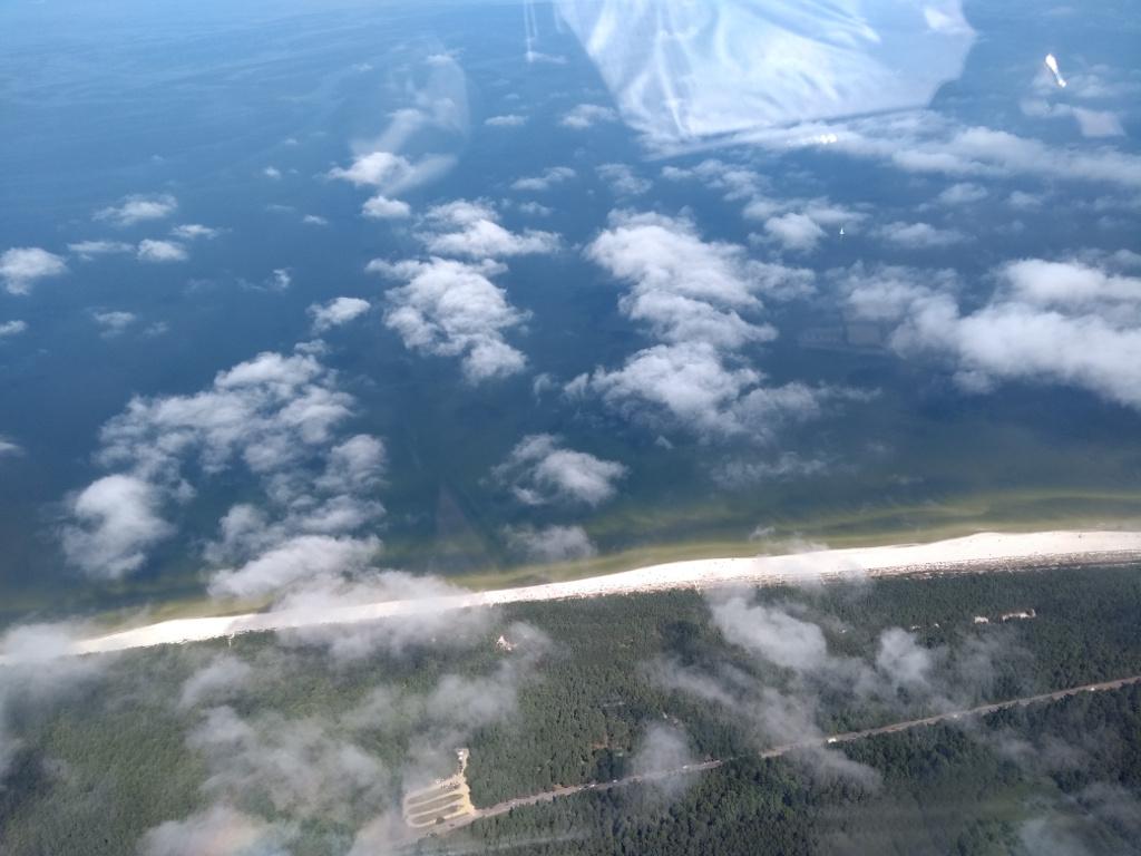 Flug über den Ostsee, kurz vor Bagicz