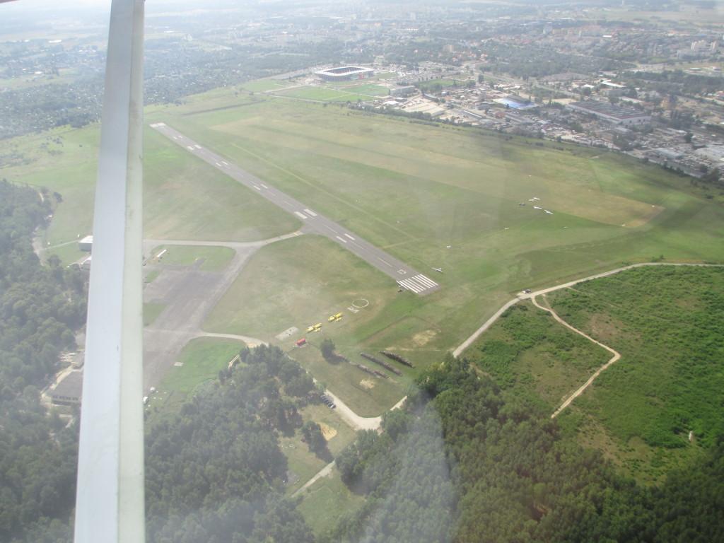 Anflug in Lubin