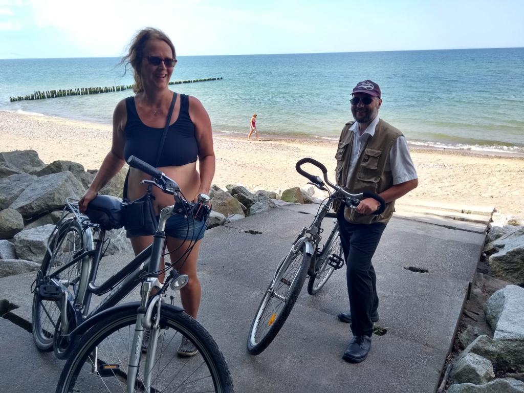 Mit dem Fahrrad zum Meer